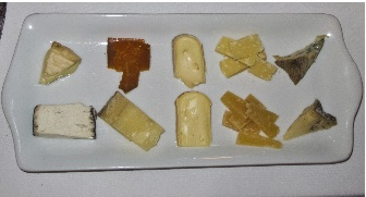 Several of the cheeses
